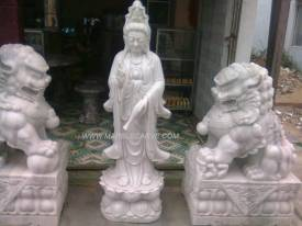 Kwanyin Statue Marble Quan Yin Statue carving Sculpture Garden carving photo image