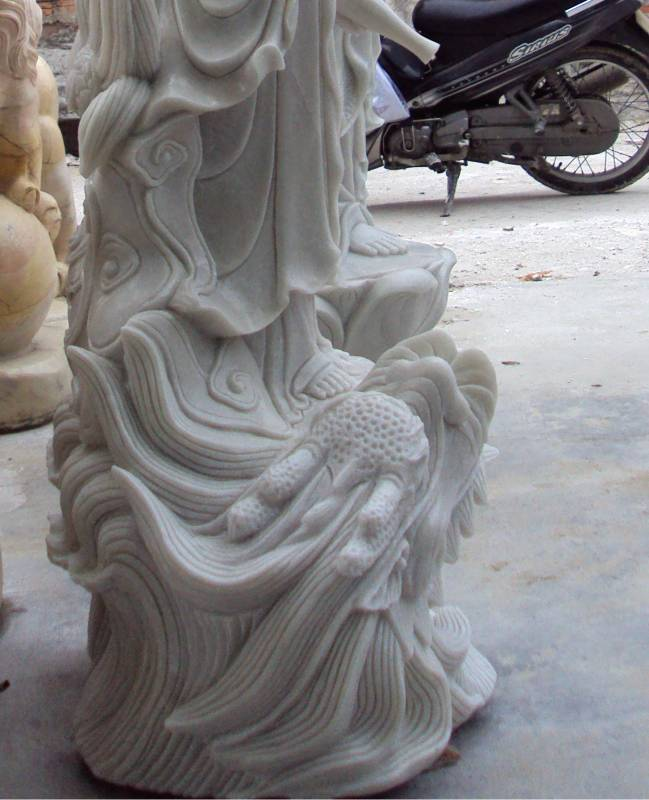 marble Guan yin buddha carving sculpture photo image