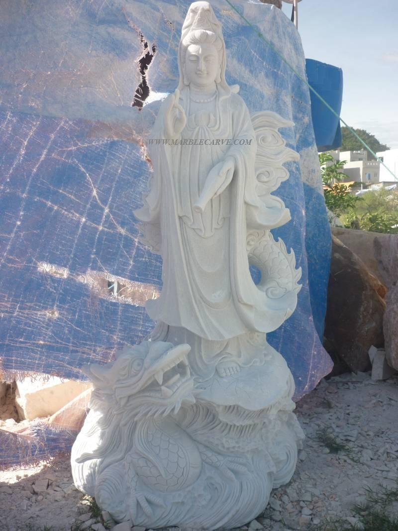 marble Kwanyin buddha carving sculpture photo image