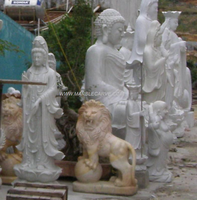 marble Lion carving sculpture