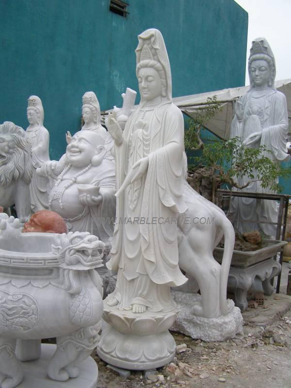 marble Kwanyin carving sculpture