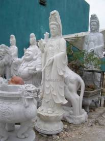 Marble Kwanyin carving Sculpture Garden carving photo image