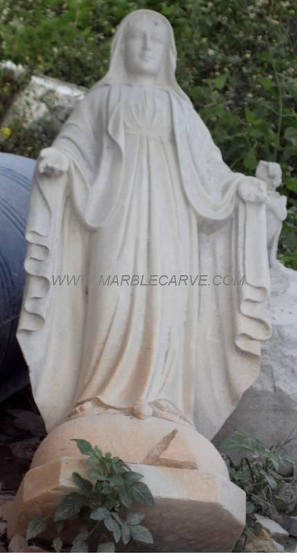 Mother Mary Statue marble carving sculpture