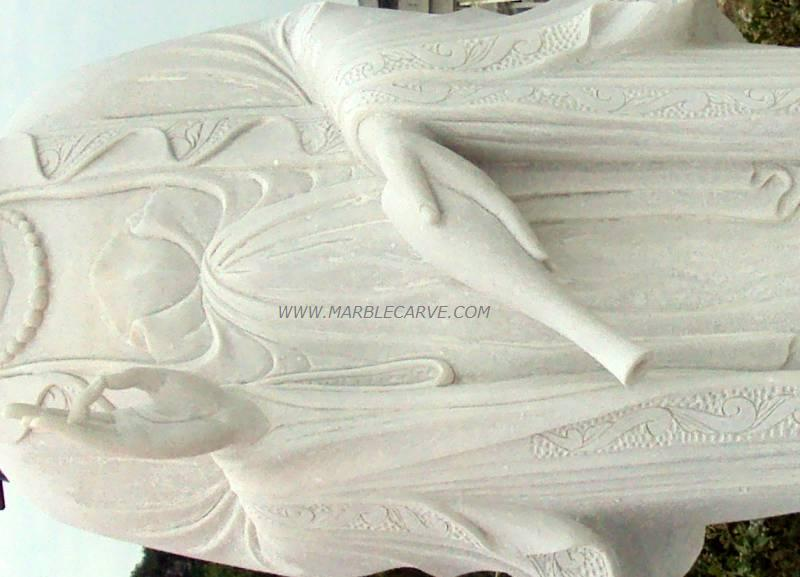 marble kwan yin carving sculpture