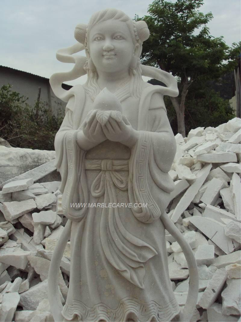marble fairy statue carving sculpture