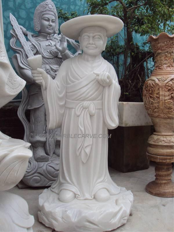 marble Monk carving sculpture
