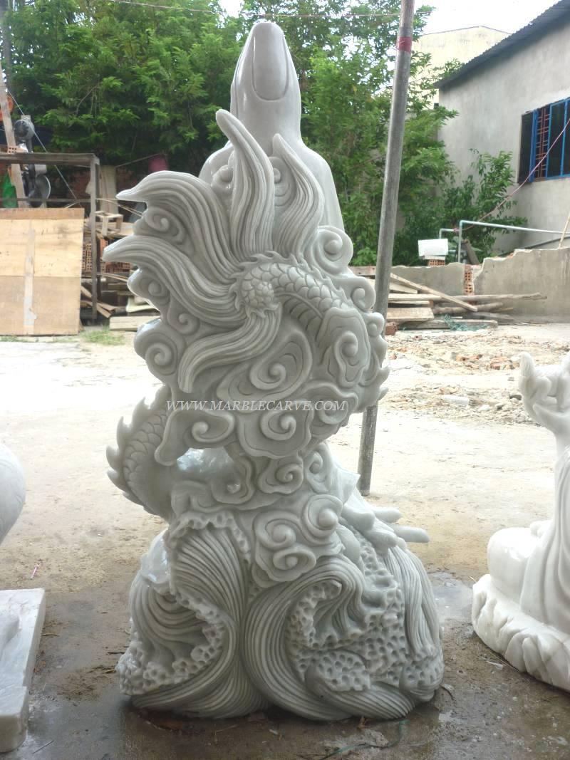 marble guan yin buddha carving sculpture photo image