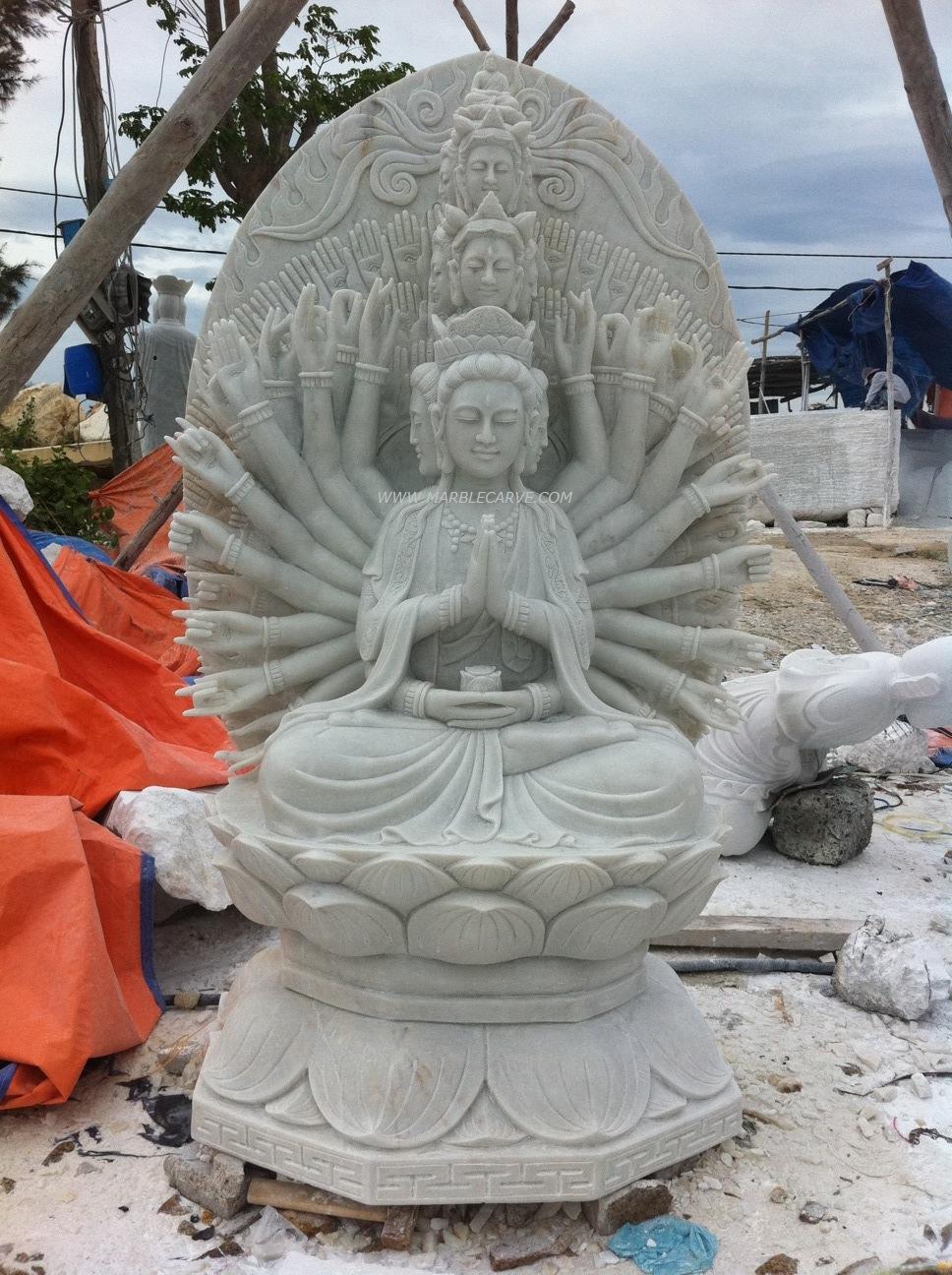 thousand hand Guan Yin carving Sculpture Garden carving