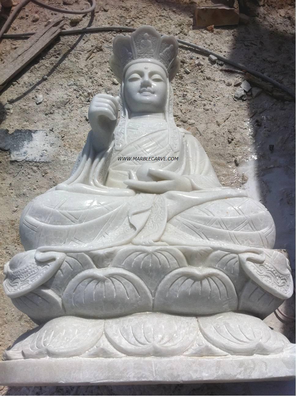 marble guan yin carving sculpture