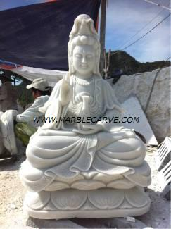 Marble Guan Yin carving Sculpture carving statue