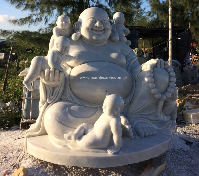 happy Buddha With Children 2800