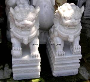 foo dog marble statue Carving