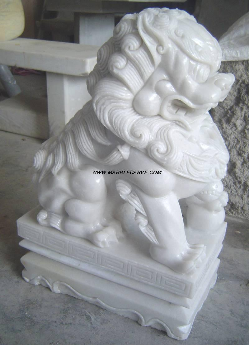 marble Foo Dogs Statue