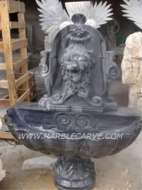 marble lion wall fountain sculpture carving