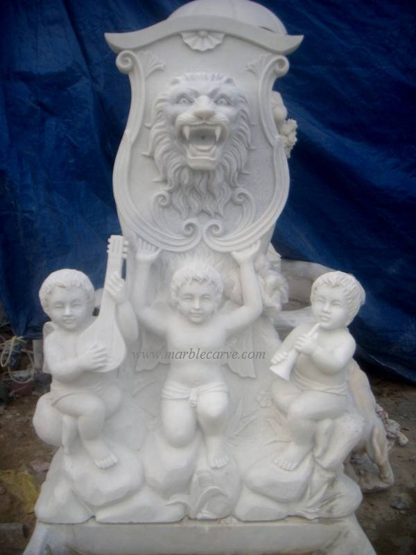 marble wall fountain carving sculpture photo image