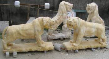 marble Tiger carving