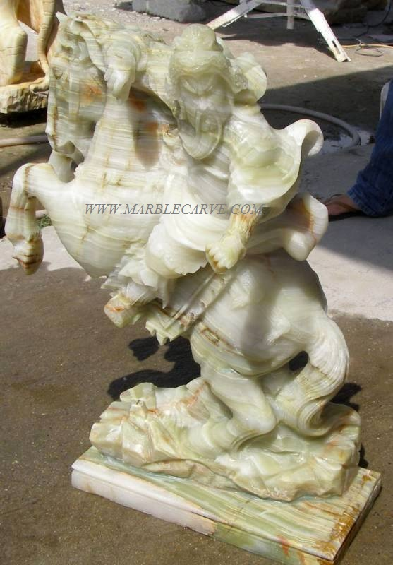 marble horse carving sculpture