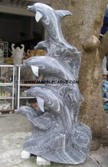 Marble Dolphin fish Statue Sculpture statue carving