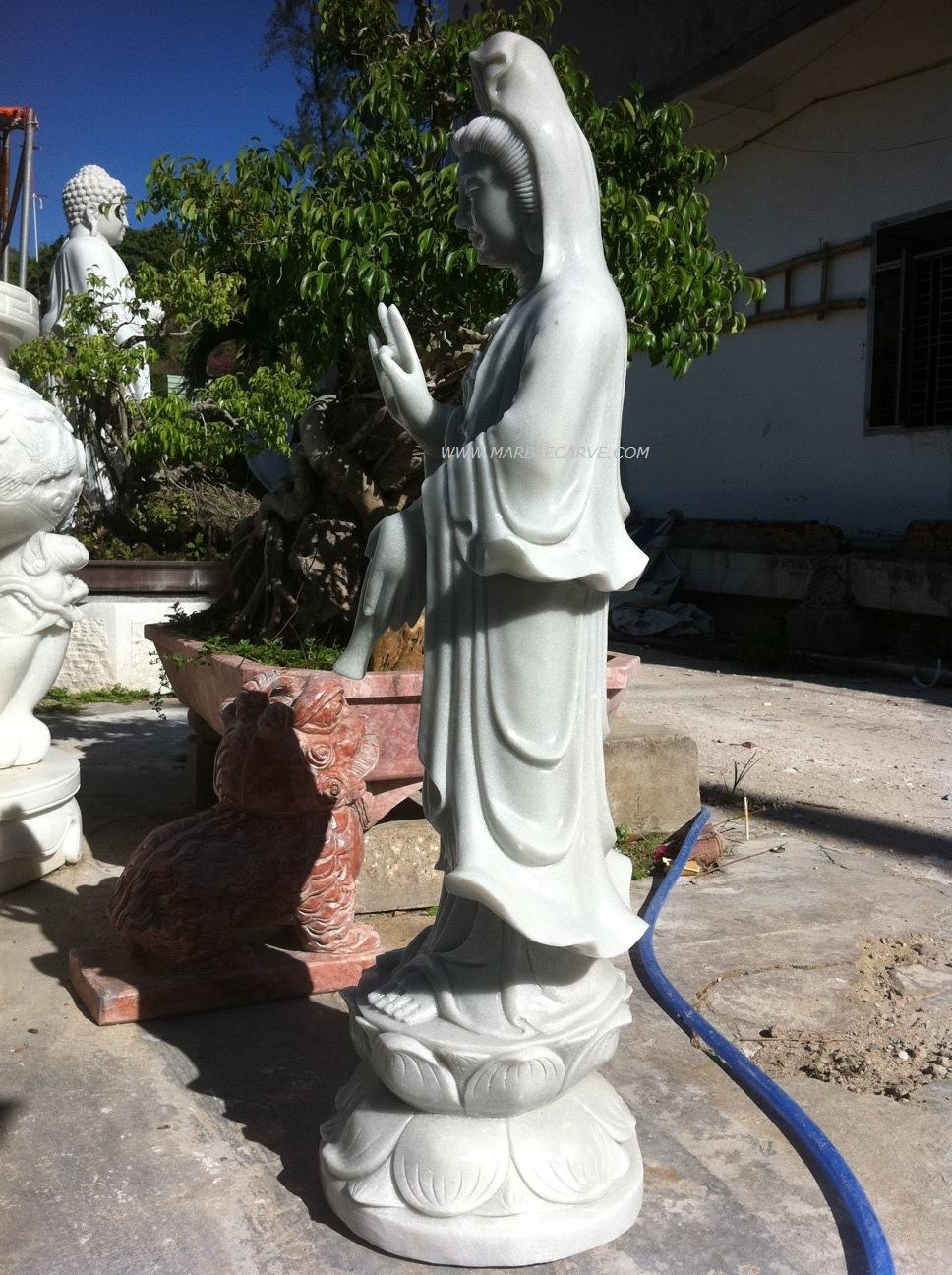 marble quanyin carving sculpture