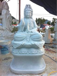 marble guan yin art statue carving sculpture