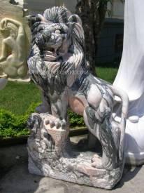 Marble Lion statue carving Sculpture Garden carving photo image