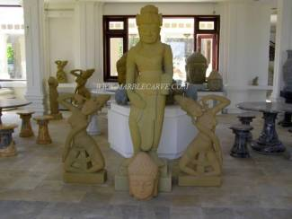 Marble cham Buddha Statue carving Sculpture Garden carving photo image