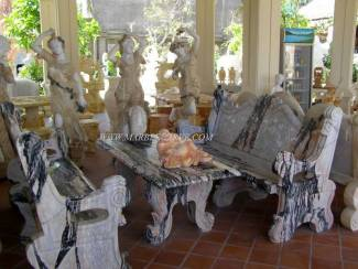 Marble Table Statue carving Sculpture Garden carving photo image