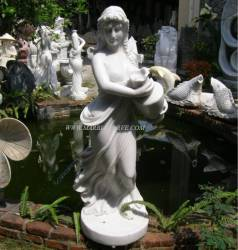 Marble Lady carving Sculpture Garden carving photo image