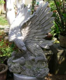Marble Eagle carving Sculpture Garden carving photo image