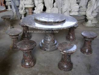 Marble table carving Sculpture Garden carving photo image