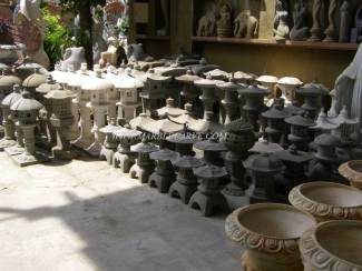 Marble lantern carving Sculpture Garden carving photo image