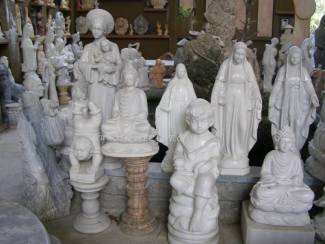 Marble Mother Mary Statue carving Sculpture Garden carving photo image