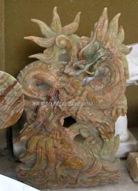 Onyx Dragon carving Sculpture Garden carving photo image