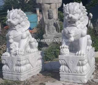 Marble Foodog Statue Sculpture statue carving