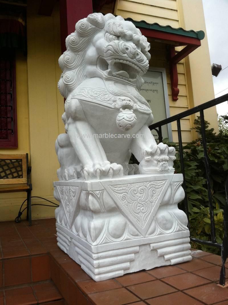 Foo Dog marble Statue
