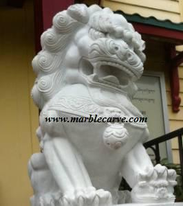 foo dog Statue marble Carving