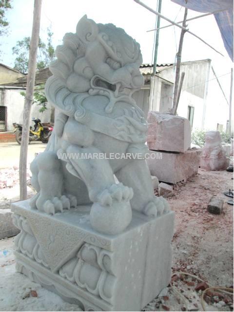 marble Fudog carving sculpture