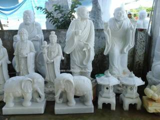 Buddha Statue Marble carving Sculpture Garden carving photo image