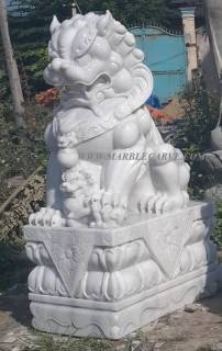 Marble Fu Dogs Statue Sculpture statue carving