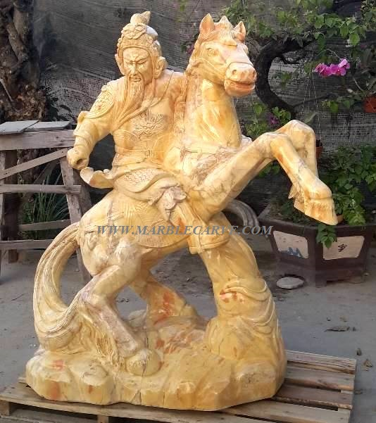 Warrior Kwan and Horse Statue