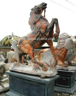 marble horse sculpture statue carving photo image