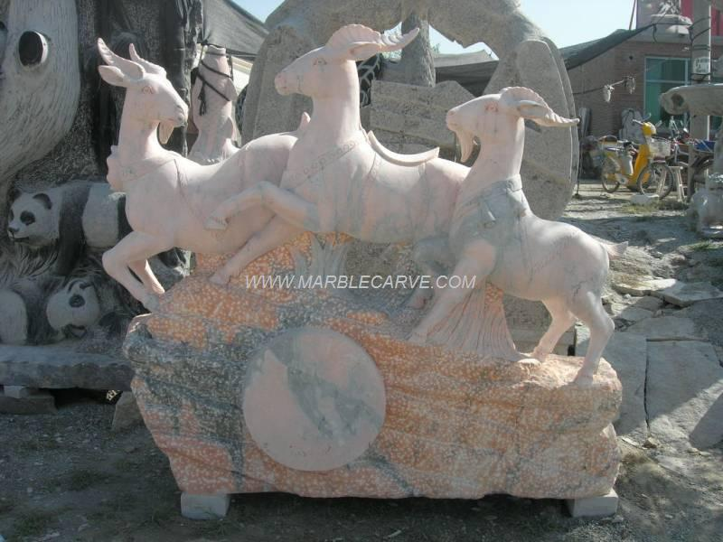 marble Ram carving