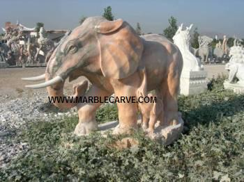 Marble Elephant statue carving Sculpture Garden carvings photo image