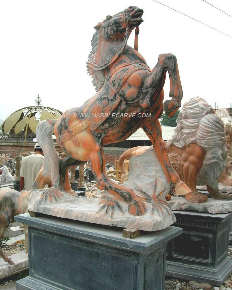horse statue marble