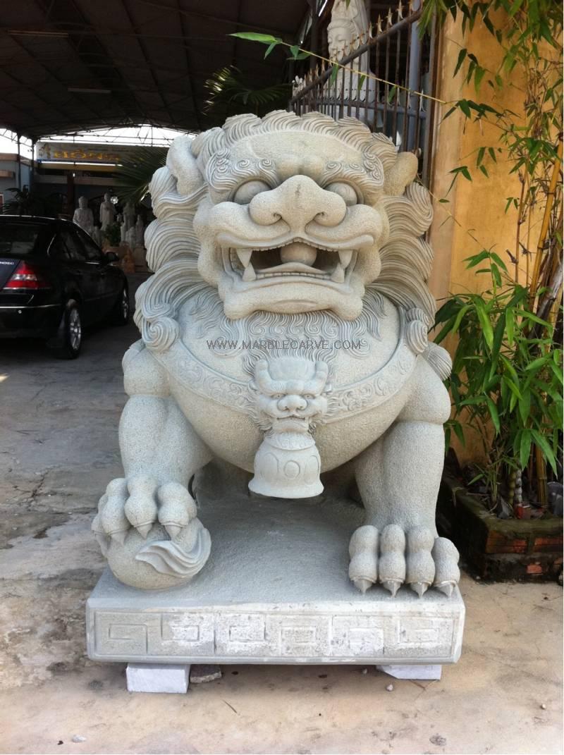 marble Foo Dogs