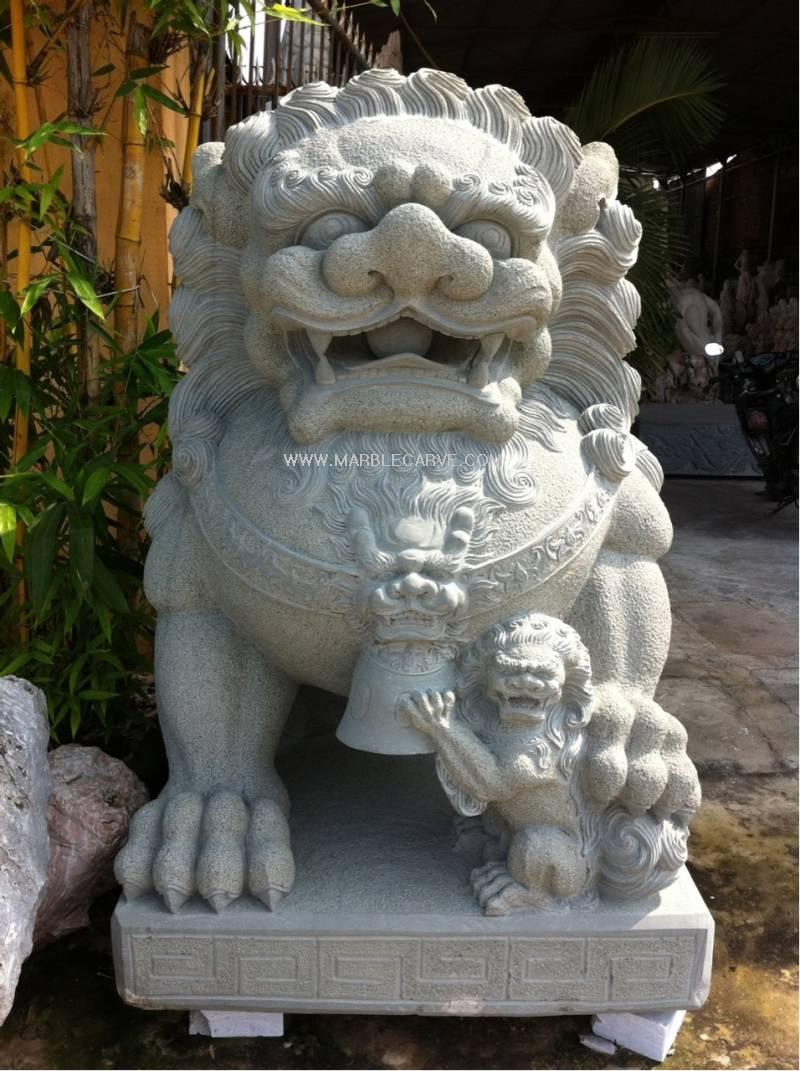Marble Foo Dog Statue Carvings Fudog Sang3 2013