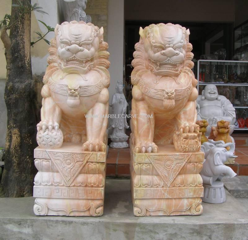 Superieur Marble Foo Dog Statue