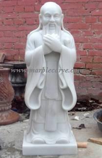 Confucius marble statue sculpture statuary