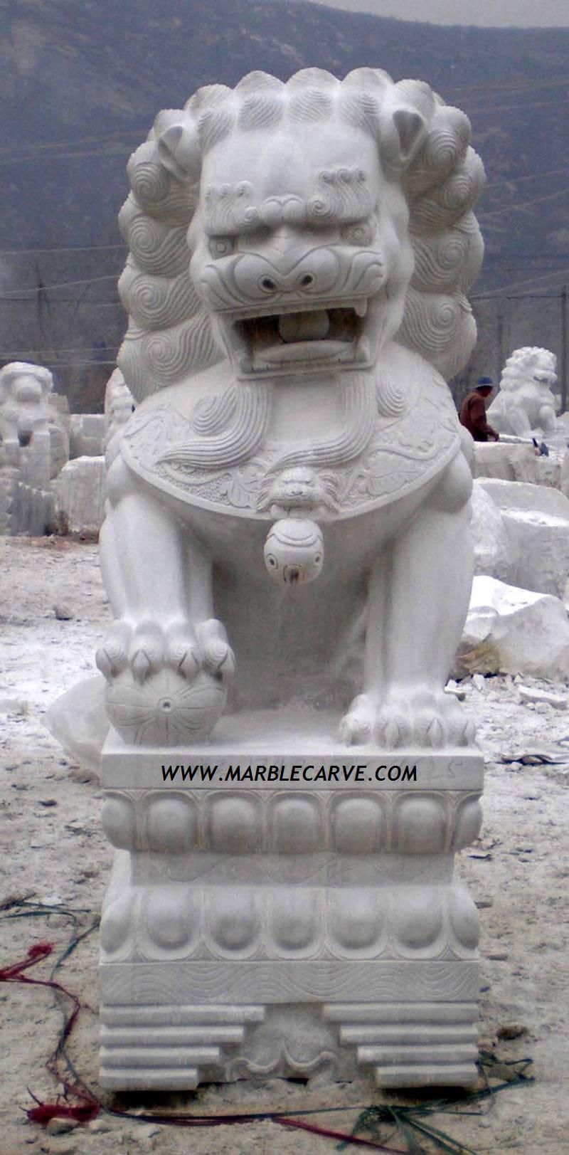 marble Foo Dog Statue