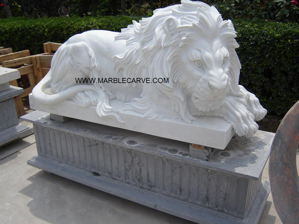 Marble Lion statue Carving